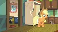 Applejack watching Apple Bloom leave S9E10
