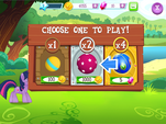 Ball Bounce minigame ball choice MLP Game