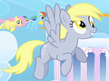 Derpy flying around in Cloudsdale S1E16.png