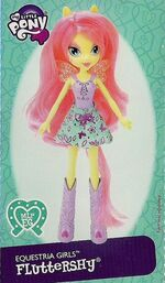 Fluttershy Equestria Girls doll pamphlet