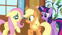 """Fluttershy tells AJ """"watch your step"""" S4E16.png"""