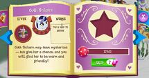 Goth Unicorn album page MLP mobile game