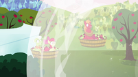 Granny Smith, Apple Bloom, and Big Mac caught in blast S03E10