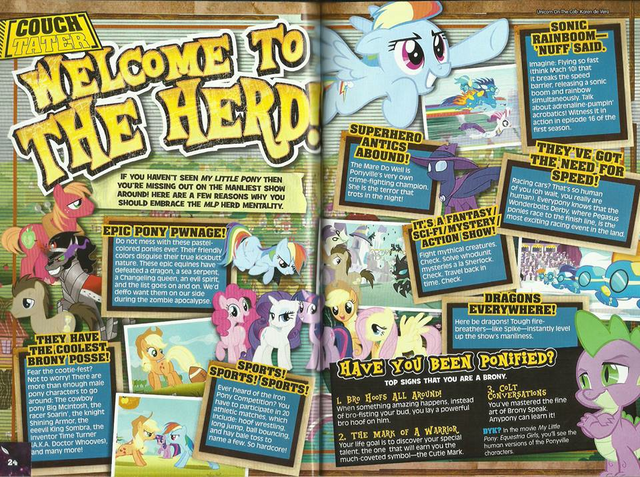 """File:MLP """"Welcome to the Herd"""" article in Filipino magazine.png"""