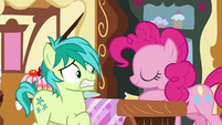 Pinkie Pie taking Sandbar's coupon S8E2
