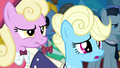 Ponies wary of Discord S4E25.png