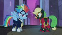 Power Ponies Rainbow Dash and Applejack S4E06