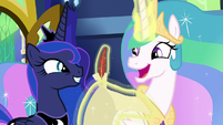 "Princess Celestia ""an intriguing idea"" S9E13"
