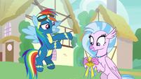 Rainbow -the first non-Pegasus Wonderbolt!- S9E3