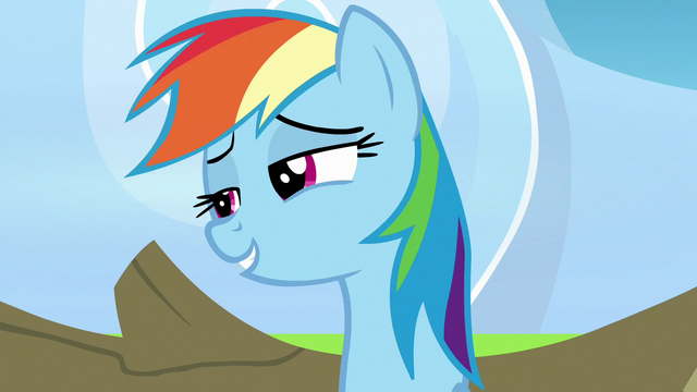 File:Rainbow Dash calling herself amazing S7E7.png