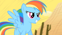 Rainbow Dash on the train S01E21