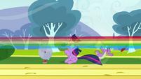 Rainbow blasts by S2E22