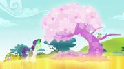 Rarity transforma uma árvore em uma árvore de cristal T4E23