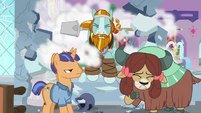Rockhoof bursts through the wall S8E21