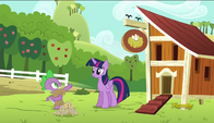 S06E10 Spike i Twilight przy kurniku