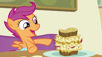 Scootaloo -I'm eating Rainbow Dash's favorite food- S7E7