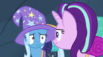 Starlight and Trixie look uncertain at each other S6E26