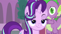 Starlight confidently approaches Twilight's desk S9E1