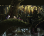 The Art of MLP The Movie page 64 - forest artwork