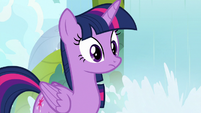 Twilight Sparkle staring at Spike S9E5