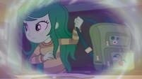 Wallflower Blush grabbing her backpack EGFF