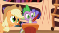 Applejack dictating to Spike S2E3.png