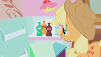 Applejack looks at bottled soda S1E04