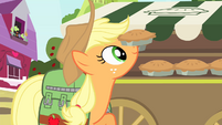 Applejack putting pies S4E17