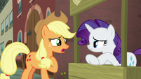 Applejack still not sure why the map picked her S5E16