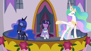 Celestia and Luna introducing Twilight S9E26