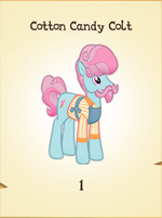 Cotton Candy Colt MLP Gameloft