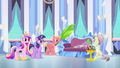 Crystal Ponies pampering Spike S4E24.png