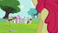 Diamond Tiara, Silver Spoon and other foals walking S4E15.png