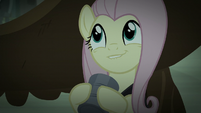 Fluttershy bites her lower lip in anticipation S5E21
