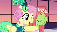 Fluttershy hugs Tree Hugger S5E7