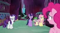 Main ponies puzzled by Pinkie Pie S8E26