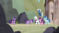 Our Town ponies see Starlight looking regretful S5E26.png