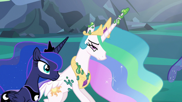 File:Princess Celestia freed from her cocoon cage S6E26.png