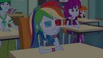 Rainbow Dash watching movie in boredom EGDS22
