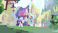 Rarity & Rainbow Dash hearing Spike out S3E11.png