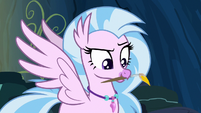 Silverstream holding paintbrush in her mouth S9E3