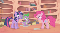 Spike -say it, don't spray it, Pinkie- S01E09