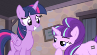 Starlight Glimmer regards Twilight's wings