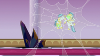 Two Sombrafied guards caught in spiderweb S9E2