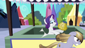 Amber Waves knocks straw weaving out of Rarity's hooves S3E02.png