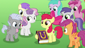 Apple Bloom holding a friendship journal copy S7E14.png