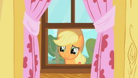 Applejack staring through window 2 S01E18