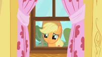 Applejack staring through window 2 S01E18