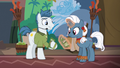 Convention salespony talking to unicorn mare S6E13.png