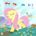 Fluttershy walking with animals promotional S4E14.png
